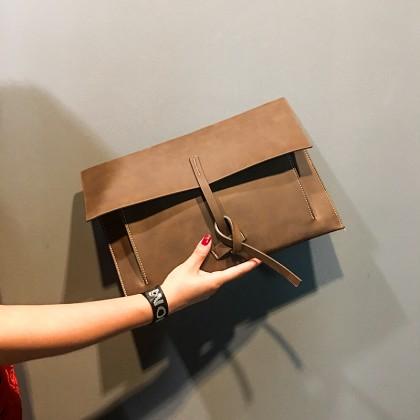 Men's Bag A Trendy Fashion Horizontal Cross Clutch Version Of Trendy Leather Bag
