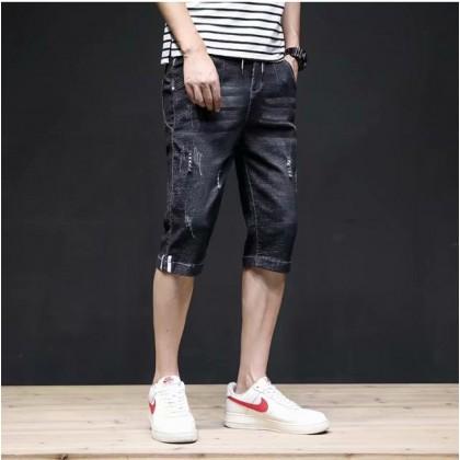 Men's Clothing Cropped Denim Short Pants A Version Of Trendy Summer Ins
