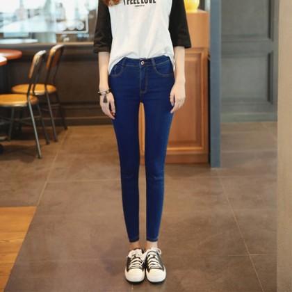 Women High Waist Denim Skinny Jeans Pants