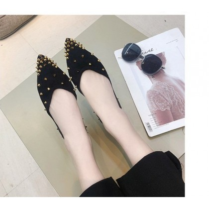 Women's Shoes Shallow Mouth Pointed Suede Sole  Shoes For Women