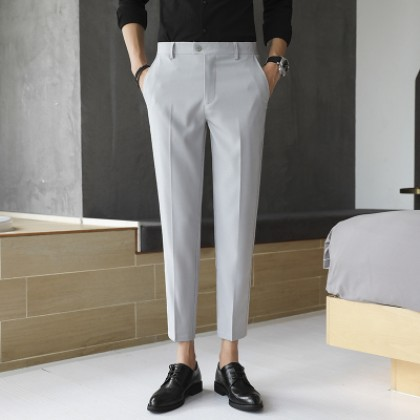 Men Casual Formal Office Straight Cut with Hot Mark Trousers