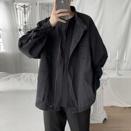 Men Casual Fashion Iron-free Loose Multi-pocket Jacket