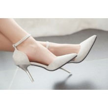 Bling Shiny High-heeled Pointed Women's shoes