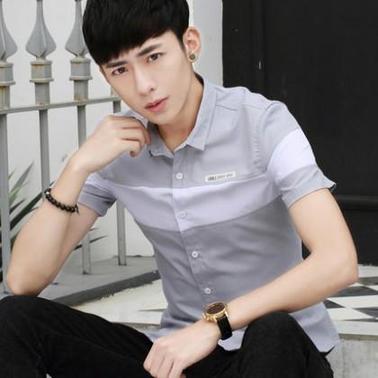 Men Casual Summer Korean Short-sleeved Shirt