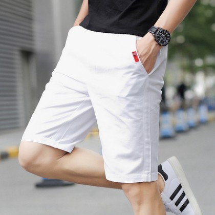 Men Casual Summer Cotton Soft Simple Shorts