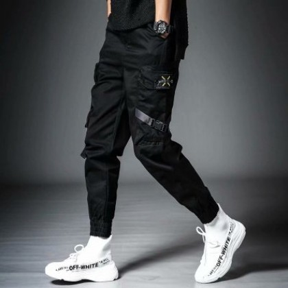 Men Casual Plus Velvet Loose Long Pants