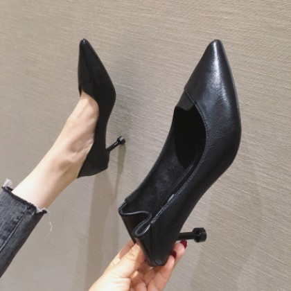 Women Fashion Pointed Toe High-heeled Work Shoes