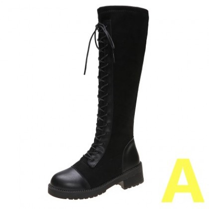 Women Fashion Round Head Over The Knee Boots