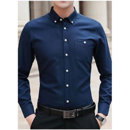 Men Formal Casual Business Long Sleeve Shirt
