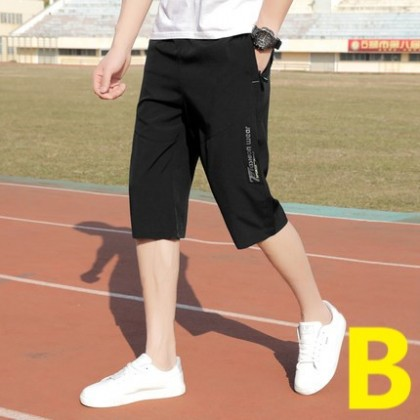 Men Trend Breathable Quick-drying Cropped Pants