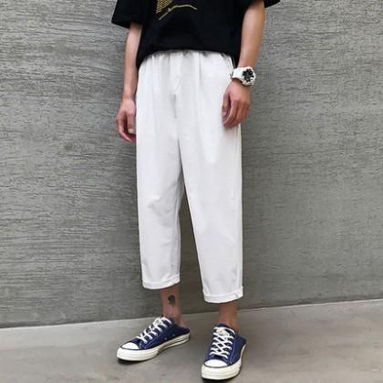 Men Loose Korean Trend Nine-Point Suit Pants