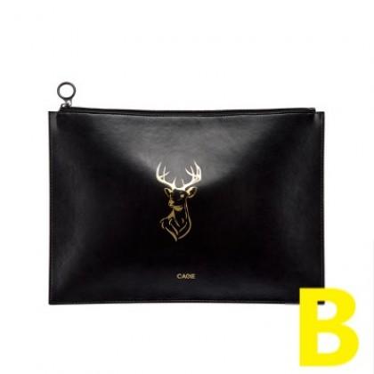 Women Multifunctional Gold Animal Print Clutch Bag