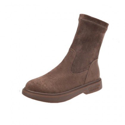 Women Fashion Trend Simple Suede Boots