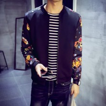 [READY STOCK] Black Flower Long Sleeve Jacket