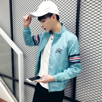 [READY STOCK] Light Blue Crown Water Resistant Men Jacket