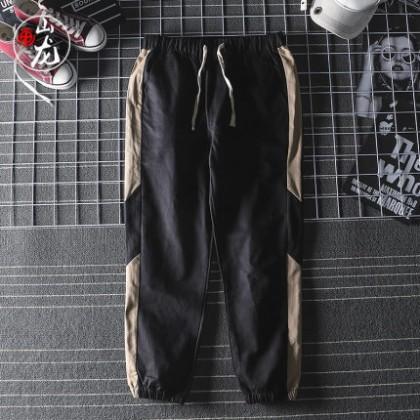 Men Casual Solid Color Retro Pants