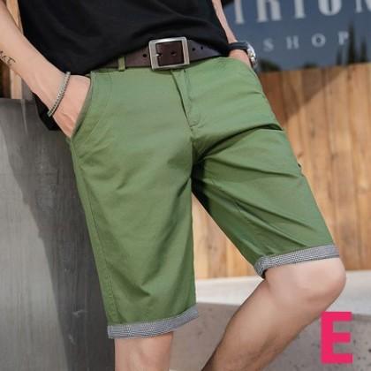 Men Summer Cotton Non-elastic Five Point Shorts