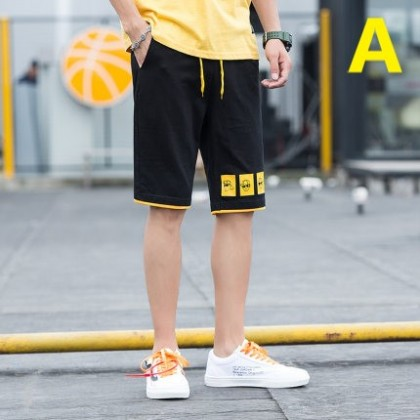 Men Clothing Sports Casual Five Point Loose Pants