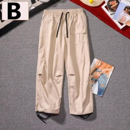 Men Clothing Multi-pocket Loose Wide Leg Pants