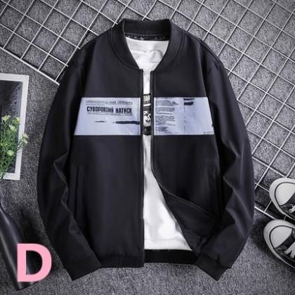 Men Clothing Sports Casual Baseball Jacket