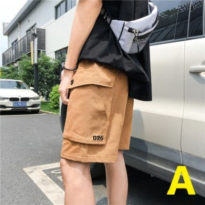 Men Clothing Loose Straight Five Point Summer Travel Pants