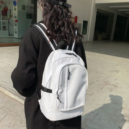 Women College Student Simple Large Backpack