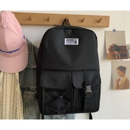 Men Casual Canvas Large-capacity Splash-proof Backpack