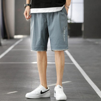 Men Clothing Five Point Casual Korean Trend Sports Shorts