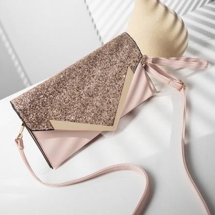 Women Sparkling Glittered Evening Clutch Bag