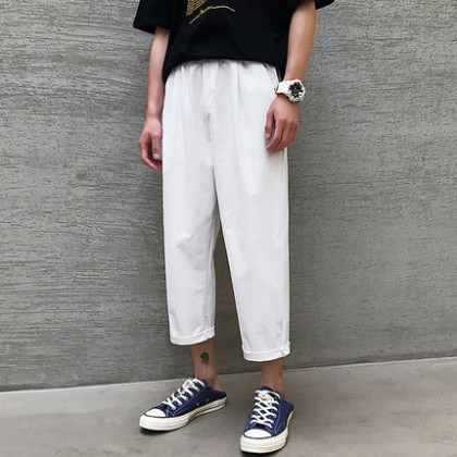 Men Clothing Casual Straight Wide-leg Pants
