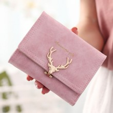 Japan Deer Cute Female Short Wallet