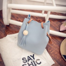 Simple Bucket Bag Female Slingbag