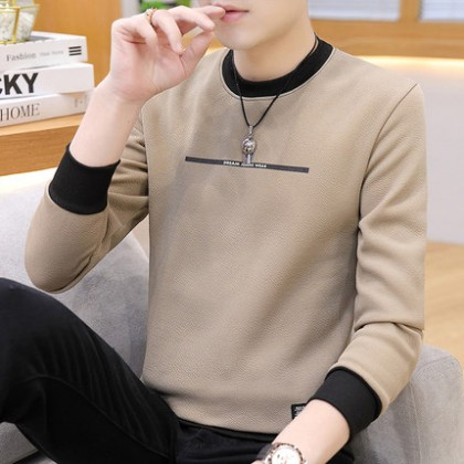 Men Clothing Long-sleeved Round Neck Casual Sweater