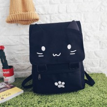 Japan Harajuku Kitty Cat Canvas Backpack Female Student Bag