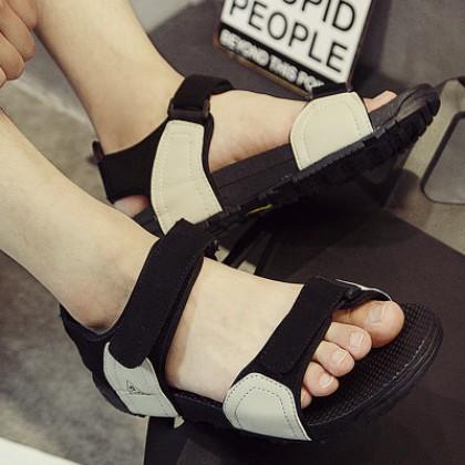 Male Men's Couple PU Sandals Beach Shoes