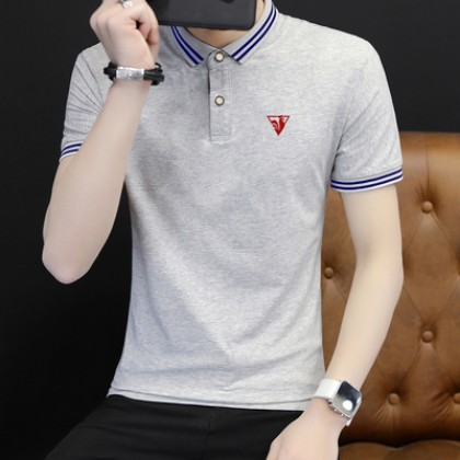 Men Clothing Short-sleeved Casual Polo Shirt