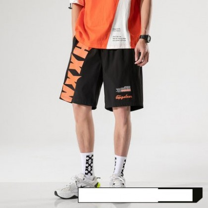 Men Clothing Retro Casual Sports Beach Five-point Shorts