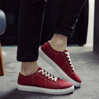 Male Men's Canvas College Student Casual Shoes
