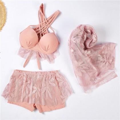 Women Clothing New Three-piece Sexy Fairy Swimsuit