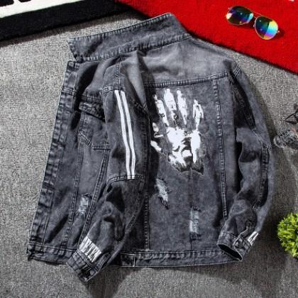 Men Clothing Loose Casual Denim Outerwear Shirt