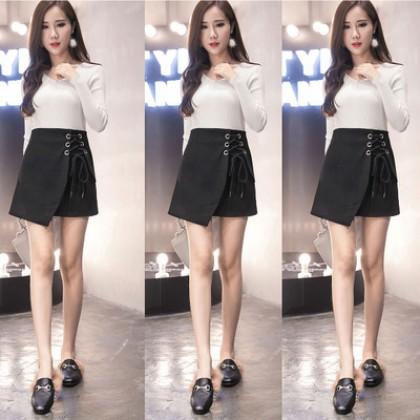Women Plus Size High Waist Irregular Strap Skirts