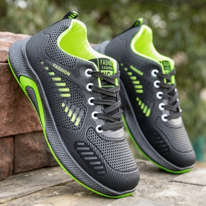 Men Waterproof Non-slip Leather Running Sports Shoes