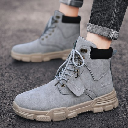 Men Outdoor High-top Leather Boots