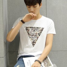 Men Triangle  Graphic Short Sleeve T-shirt