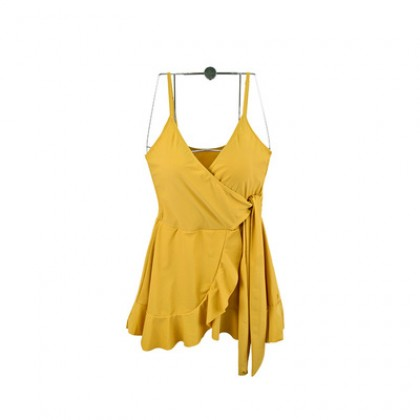Women Clothing Sexy Bowknot Skirt One-piece Swimsuit