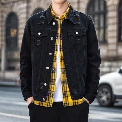 Men Clothing New Denim Loose Jacket