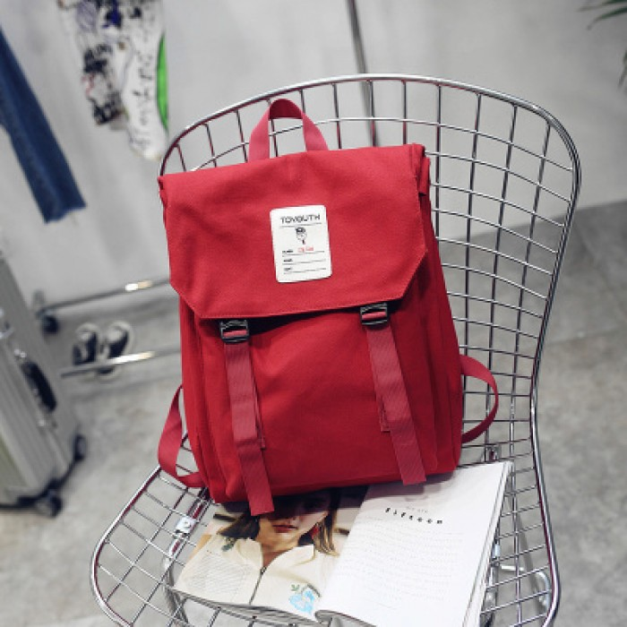 Women Japanese College Student Canvas Backpack 0939cb4c56df