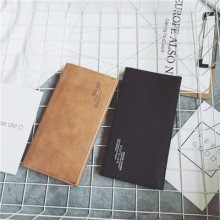 Men Korean Scrub Retro Long Wallet