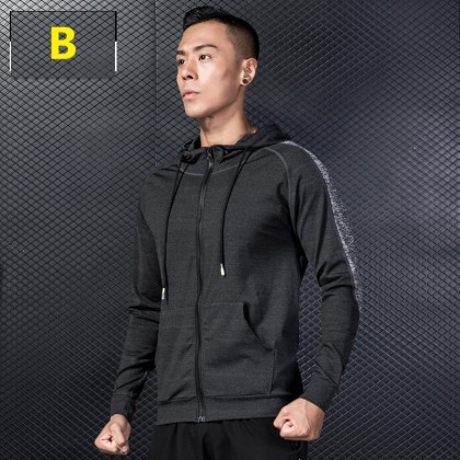 Men Clothing Sports Jacket Quick-drying Fitness Running Breathable Sweater