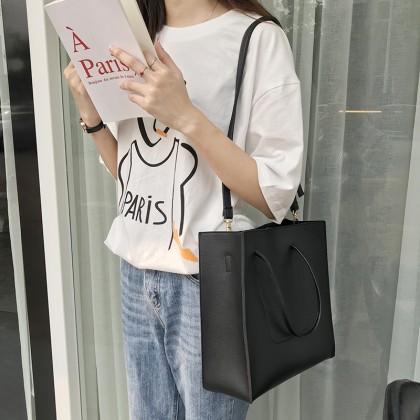 Women Diagonal Casual Large Capacity Solid Color Shoulder Bag